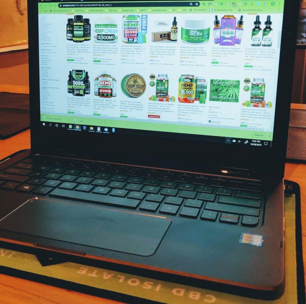 amazon laptop cbd listing