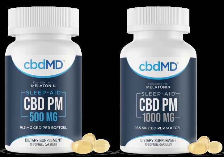 cbdMD PM softgel combination